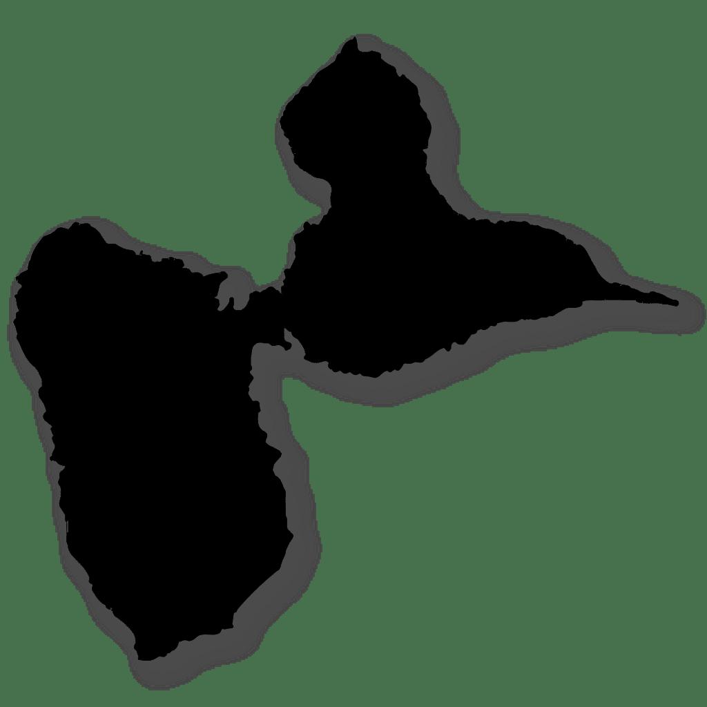 Guadeloupe silouhette