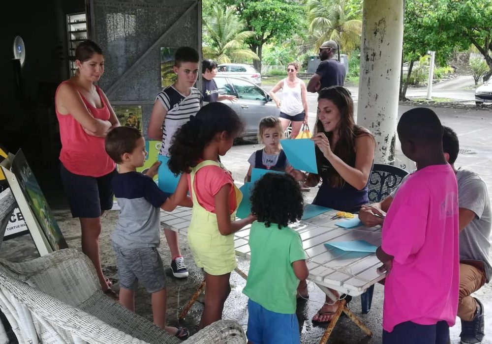 Atelier origami organisé à l'occasion de la fête de la nature, Grande Anse (Trois-rivières)