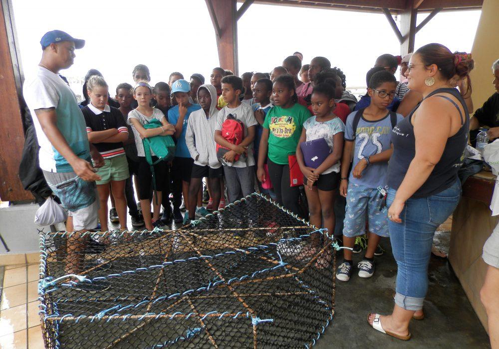 Atelier sur la pêche dans le cadre de l'aire marine éducative (AME), Anse Dupuy